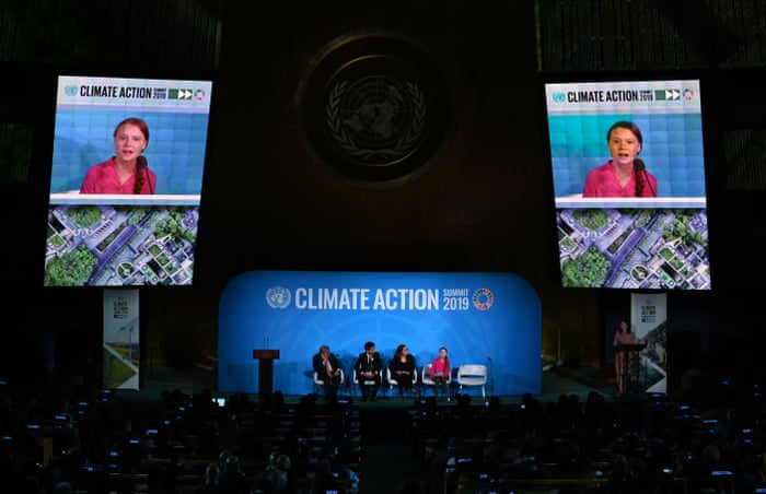 Image result for Greta Thunberg condemns world leaders in emotional speech at UN