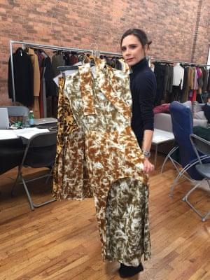 Victoria talks through the Faux fur prints pre-show.