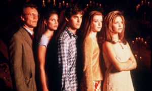 Anthony Head (left) and Sarah Michelle Gellar (right) in Buffy the Vampire Slayer.