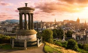 The Edinburgh skyline, seen from Calton Hill