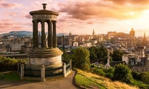 Edinburgh skyline from Calton Hill.
