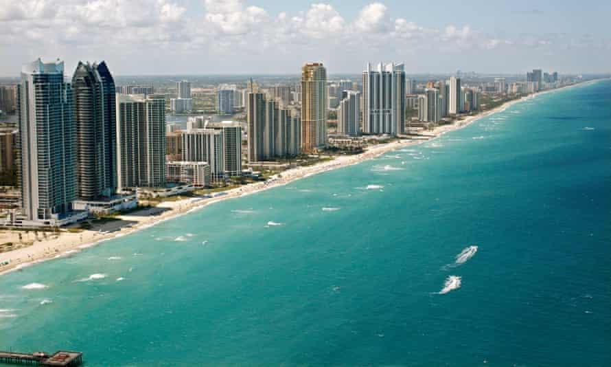 Miami Beach Coast, Florida.