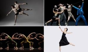 Clockwise from top left … Scottish Ballet; Bettrofenheit; Within the Golden Hour and Natalia Osipova
