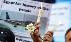 Vigil in Cairo for the victims of EgyptAir flight 804
