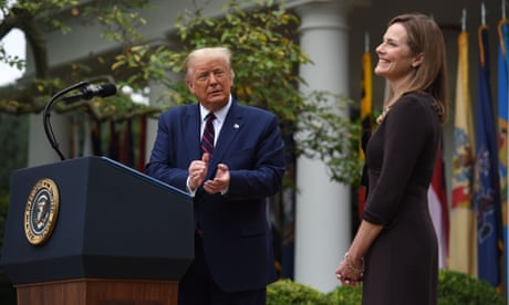 Trump names Amy Coney Barrett for supreme court, stoking liberal backlash