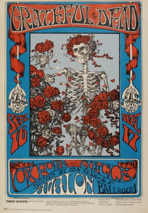 Skulls and Roses poster by Stanley 'Mouse' Miller and Alton Kelley.