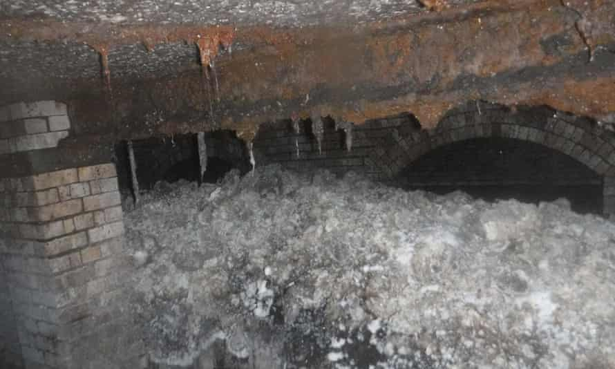 It took eight weeks for a team to remove the fatberg from the sewer after it was discovered a year ago.