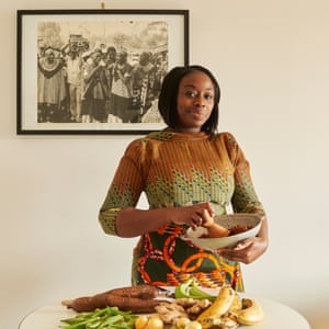 Nima Owino of Nim's Din blog, the monthly Cham Cham supper club and a Hackney stallholder, was photographed for a feature on African food in Observer Food Monthly.