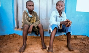Joe, 10, and Kwame, 12, who were sold by their mother to a fisherman in Ghana
