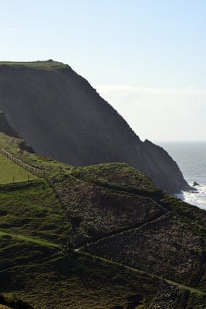 The steep and unforgiving route of the coast path