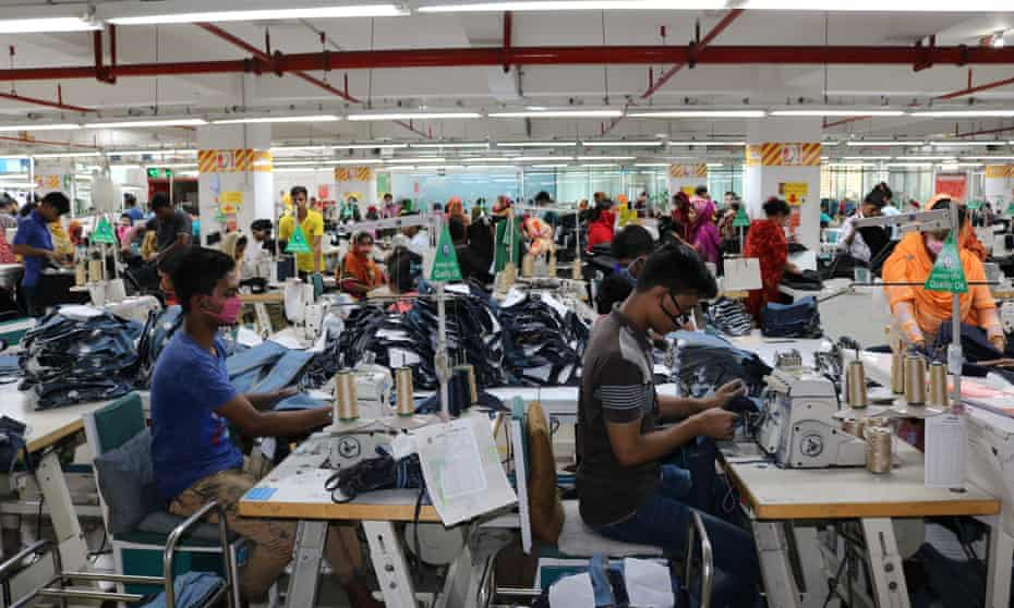 The Natural Denims Ltd factory, which is covered by an international initiative to improve workers' conditions in Bangladesh.