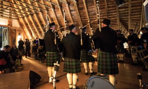 At Sanctum, anything goes ... bagpipers perform Amazing Grace and the Porridge anthem