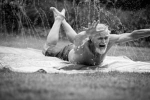 "This ""young-blood"" told me the idyllic weather in Southern California provides no excuses for abstaining from exercise. This day was spent on slip and slides and in a pool with a small group of friends all over the age of seventy. Bil Zelman"