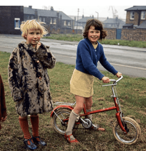 Children at play in Hoverton Hill, Stockton-on-Tees, Country Durham, 1970s