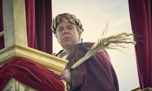 Stuck up ... Steve Pemberton as Claudius in Britannia.