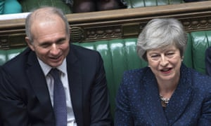 David Lidington sits with Theresa May during Prime Minister's Questions on 23 January.