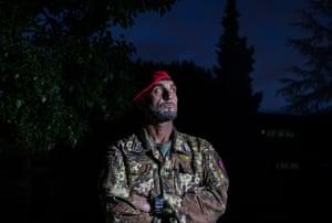 The Commander Milo Aveni, photographed at the Carabinieri barracks in Vibo Valentia.