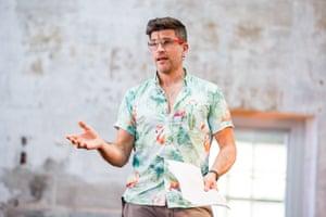 Bachelor Australia host Osher Gunsberg performs Manwatching at the 2018 Festival of Dangerous Ideas.