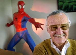 Stan Lee in his office in Santa Monica, California, in 2002