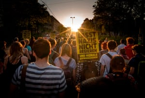 Vienna, AustriaActivists and supporters of the Austria's left-oriented Linkswende attend a protest march to demand the resignation of Austria's Interior Minister Herbert Kickl.