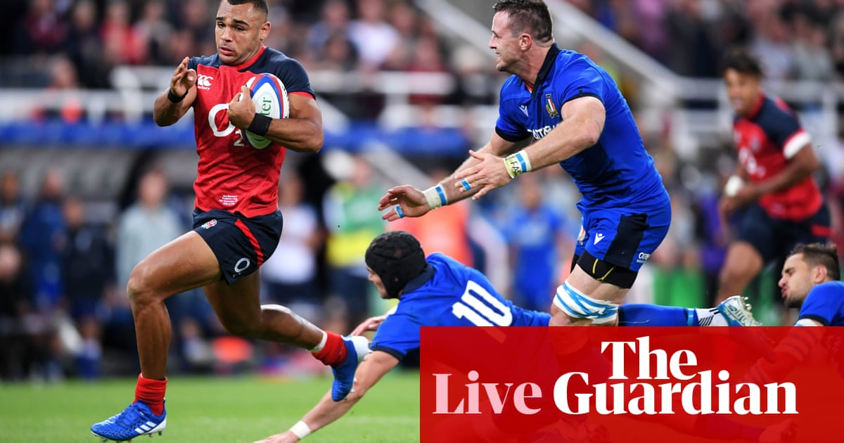 England 37-0 Italy: Rugby World Cup warm-up match – as it