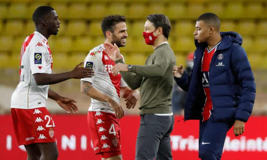 Niko Kovac (second right) has impressed for Monaco since his appointment in July.