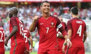 Portugal's Cristiano Ronaldo celebrates