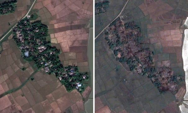 Satellite images reveal scale of Myanmar's Rohingya crisis | Myanmar | The Guardian