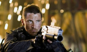 Christian Bale in Terminator: Salvation.