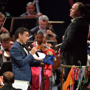 Juan Diego Flórez and a Paddington Bear at the Last Night of the Proms, September 10 2016