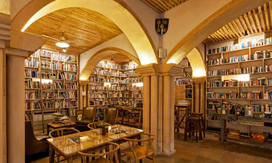 The Literary Man hotel, home to 30 guestrooms – and 50,000 books. Obidos, Portugal.
