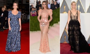Alicia Vikander, Beyoncé and Jennifer Lawrence reject the cleavage.