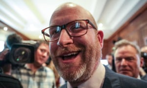 Paul Nuttall after the Ukip campaign launch on Friday.