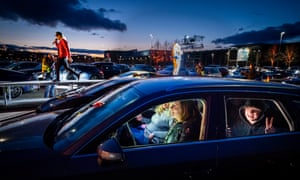 Norway held its first drive-in concert in an Oslo car park at the beginning of April. It plans to lift pandemic restrictions 'little by little'.