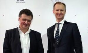 Steven Moffat (L) and Mark Gatiss