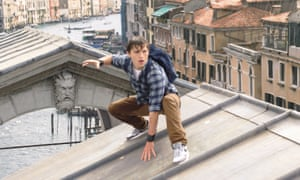 Tom Holland as Peter Parker in Spider-Man: Far from Home.
