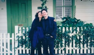 Phillip Johnson and Hilary Bell in Newtown in 2000