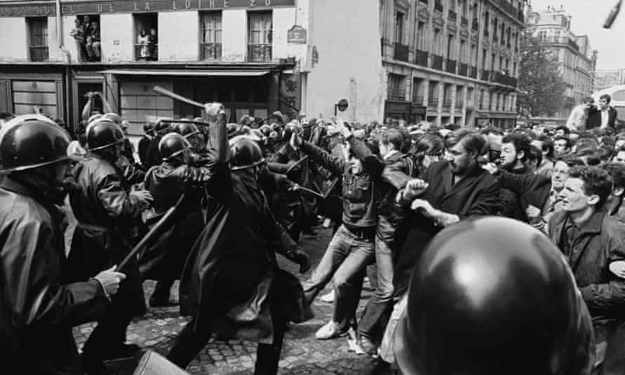 Student demonstrations in Paris, May 1968.