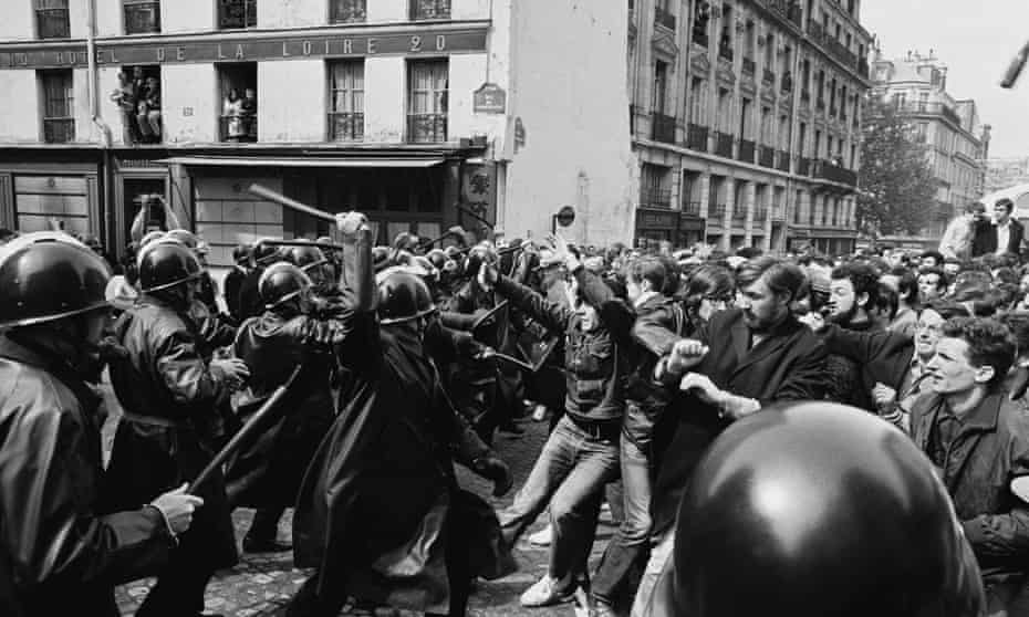 Show of strength … protests in Paris, 1968.
