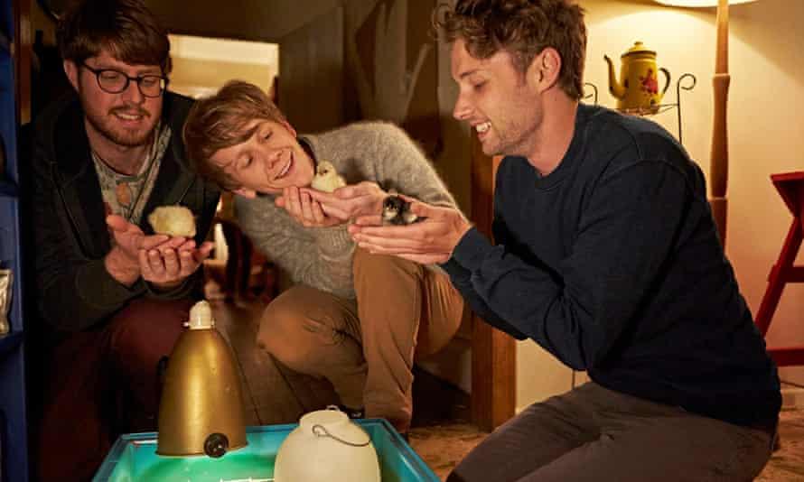 Tom Ward as Tom, Josh Thomas as Josh and Keegan Joyce as Arnold in ABC series Please Like Me