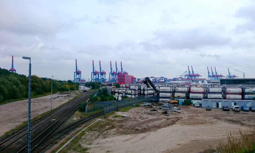 The old fishing port is now Hamburg's container terminal.