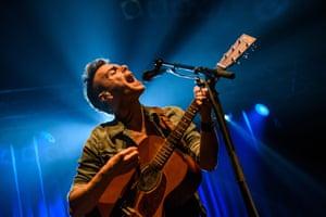 Asaf Avidan performing in Berlin.