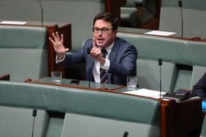 The member for Maranoa David Littleproud yells at opposition leader Bill Shorten that he had six years in government to change the marriage act.