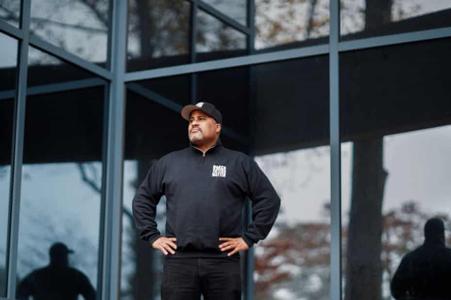 Black Voters Matter co-founder Cliff Albright is photographed outside the organization's offices in Atlanta, Ga. on Thursday, November 12, 2020.