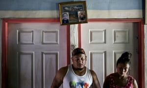 La Libertad, HondurasRolando Bueso Castillo and his wife Adalicia Montecinos at their home. This week, the couple were reunited with their infant son Johan, who was separated from Bueso Castillo at the Texas border in March and sent to a shelter in Arizona