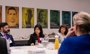 Panellists Dr Sam Shah, Nadira Hussain, Maryvonne Hassall and Emma Revie.