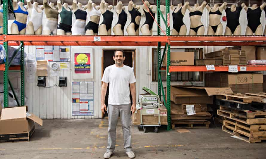 'I like young people. I get them' ... Dov Charney, at his Los Angeles Apparel factory.