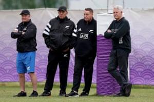 Grant Fox, Gilbert Enoka, Steve Hansen and Steve Tew