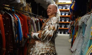 Peter Docherty in a costume store researching designs for John Ringling's Circus Nutcracker for Sarasota Ballet.