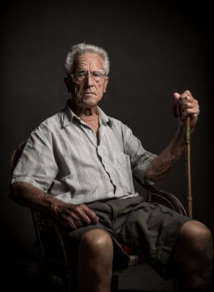 Josep Capellades, 100 poses for a portrait on 13 July  in Banyeres del Priorat, Spain.